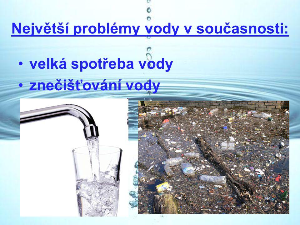Největší problémy vody v současnosti: