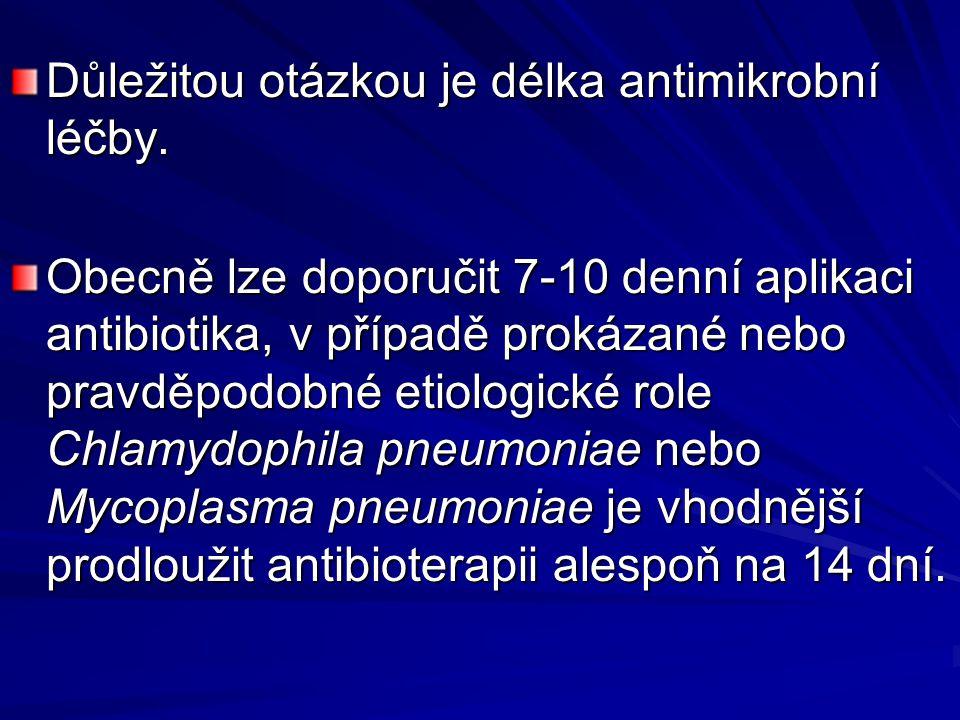 Důležitou otázkou je délka antimikrobní léčby.