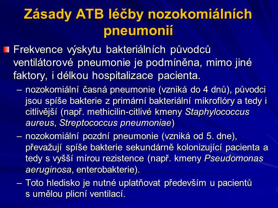 Zásady ATB léčby nozokomiálních pneumonií