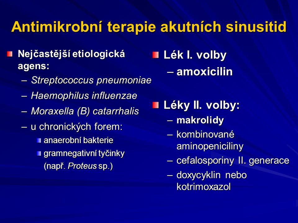 Antimikrobní terapie akutních sinusitid