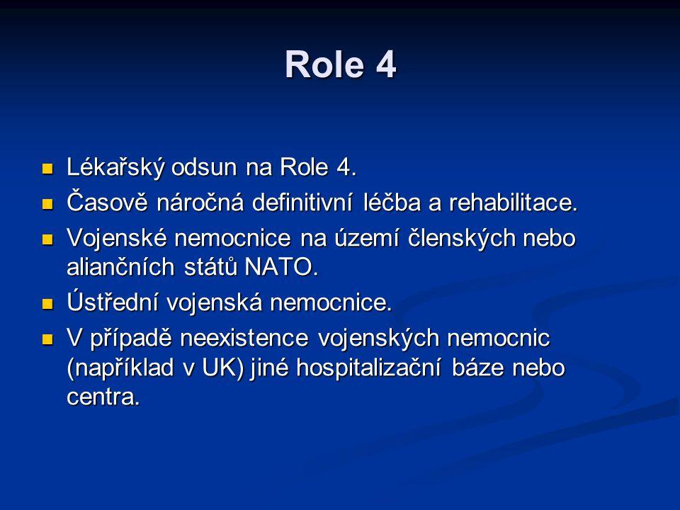 Role 4 Lékařský odsun na Role 4.