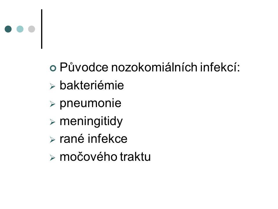 Původce nozokomiálních infekcí: