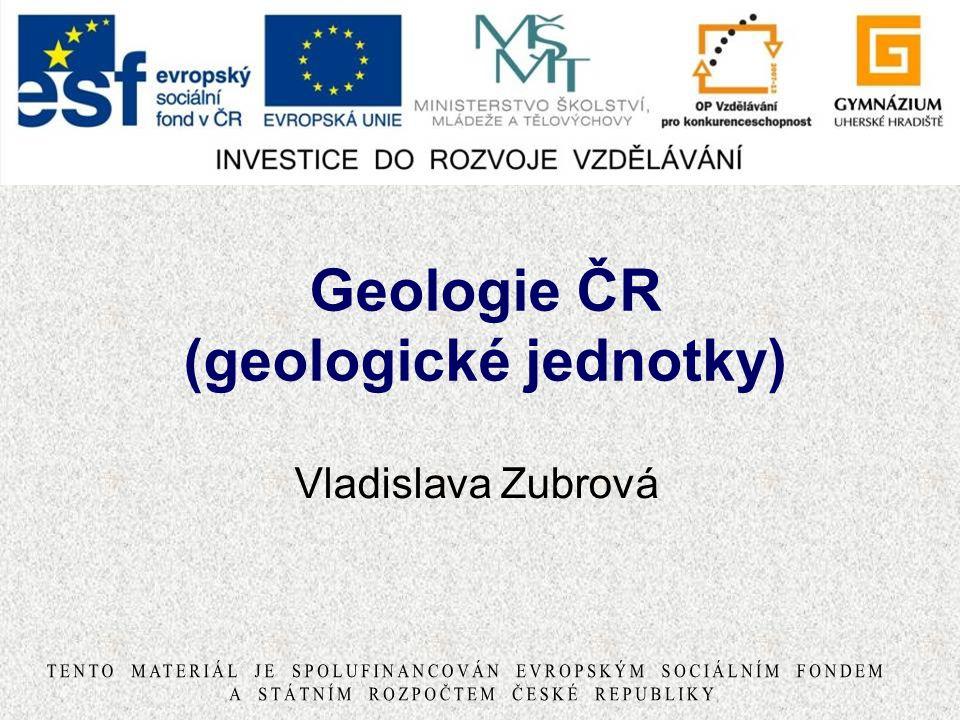 Geologie ČR (geologické jednotky)