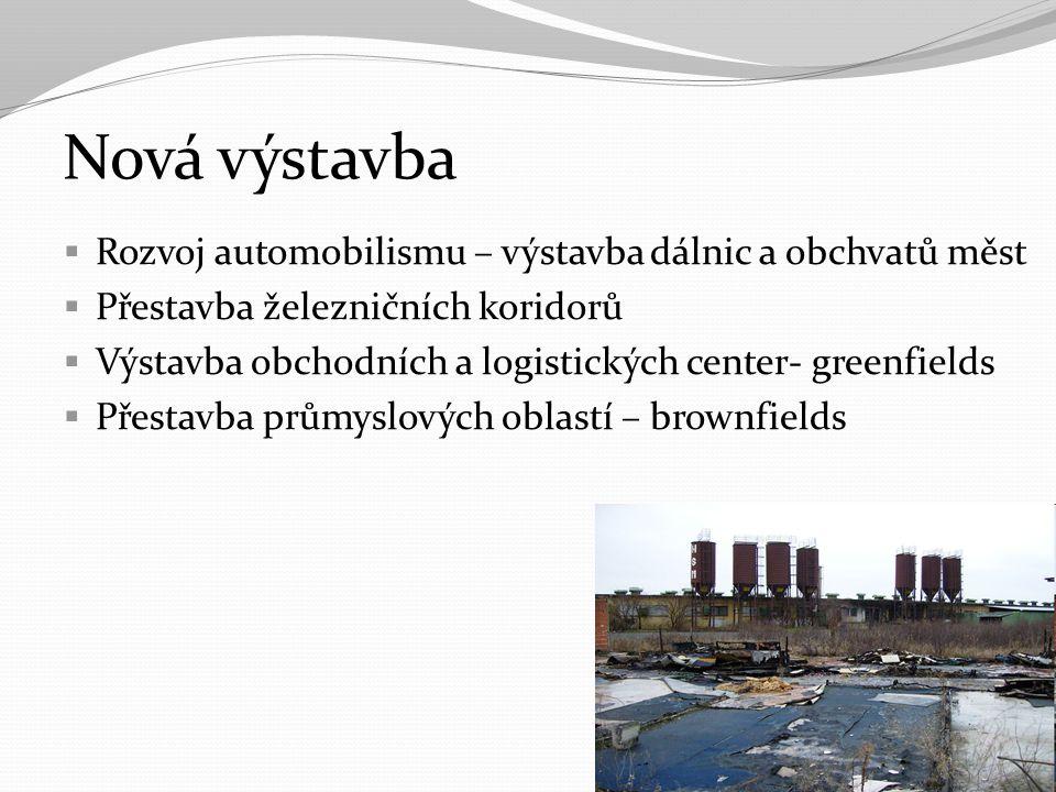 Nová výstavba Rozvoj automobilismu – výstavba dálnic a obchvatů měst