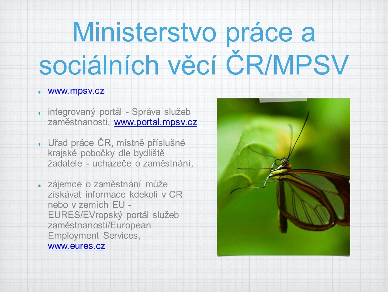 Ministerstvo práce a sociálních věcí ČR/MPSV