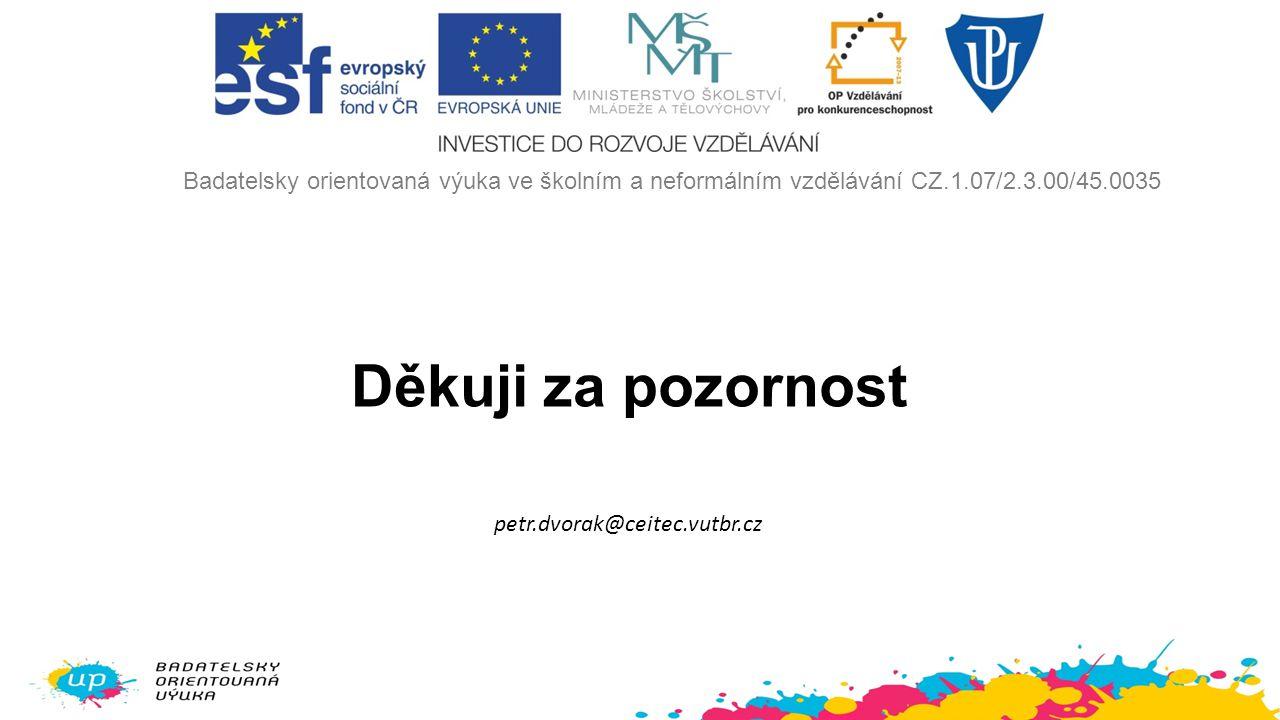Badatelsky orientovaná výuka ve školním a neformálním vzdělávání CZ. 1