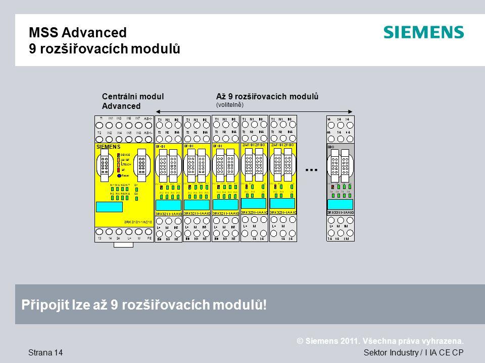 MSS Advanced 9 rozšiřovacích modulů
