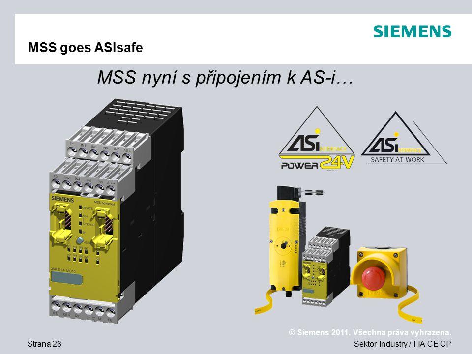 MSS nyní s připojením k AS-i…