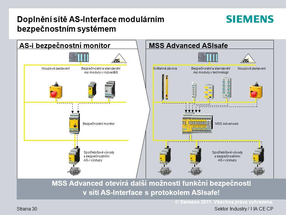 Doplnění sítě AS-Interface modulárním bezpečnostním systémem