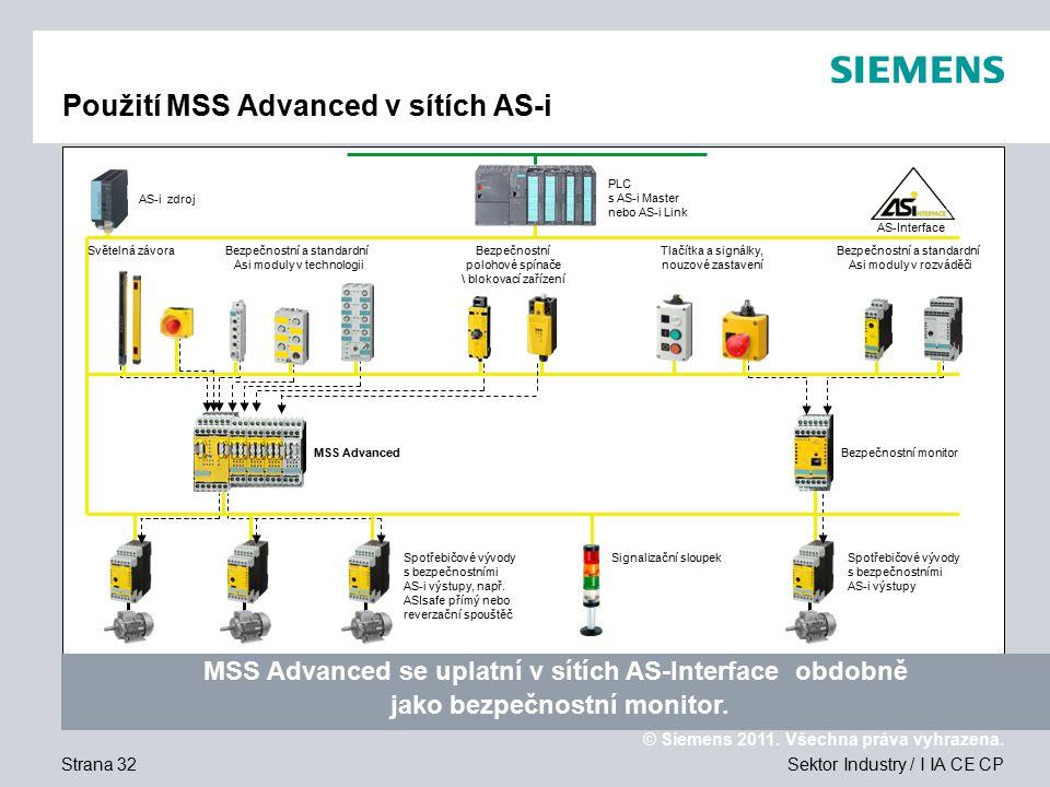 Použití MSS Advanced v sítích AS-i