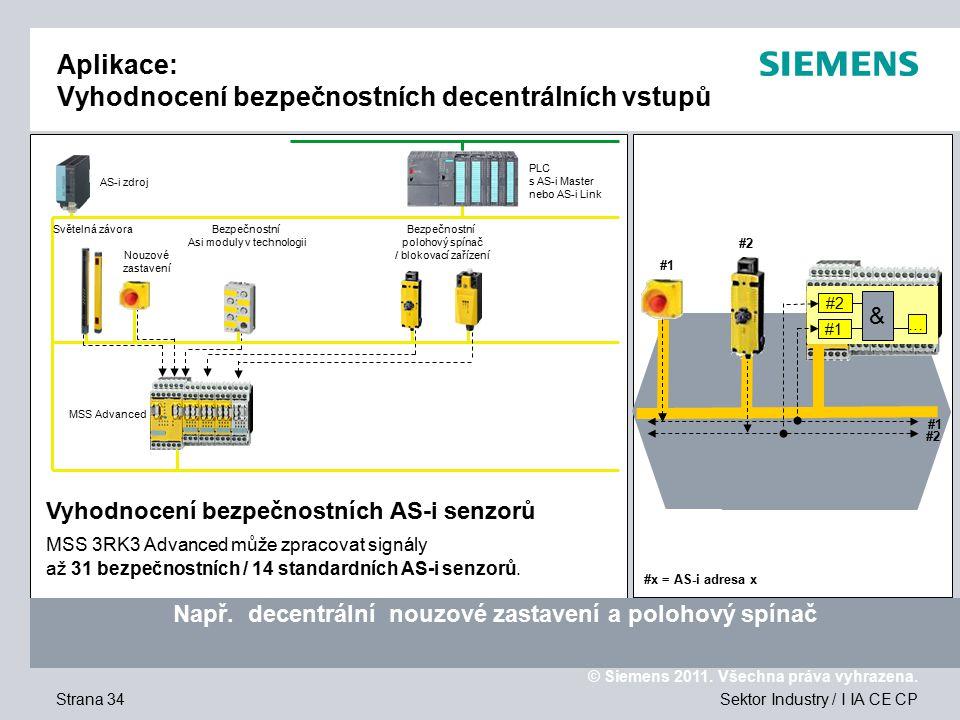 Aplikace: Vyhodnocení bezpečnostních decentrálních vstupů