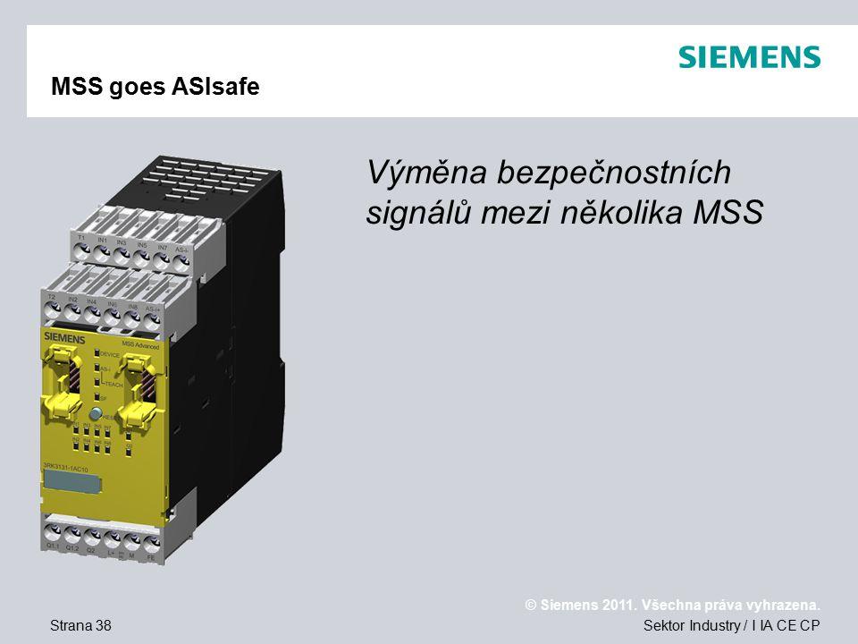 Výměna bezpečnostních signálů mezi několika MSS
