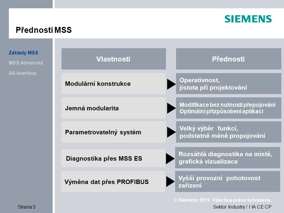 Přednosti MSS Vlastnosti Přednosti Operativnost, Modulární konstrukce