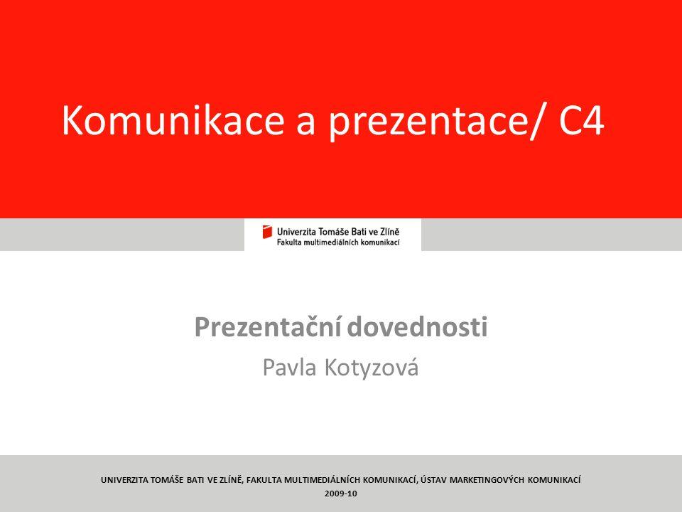Komunikace a prezentace/ C4
