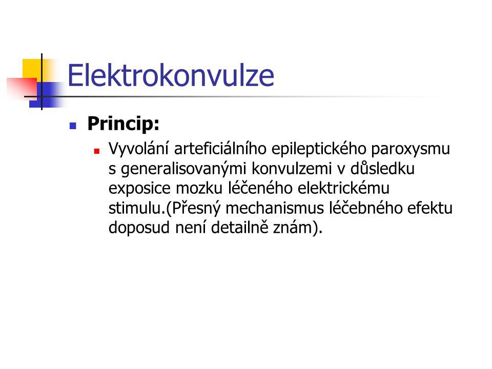 Elektrokonvulze Princip: