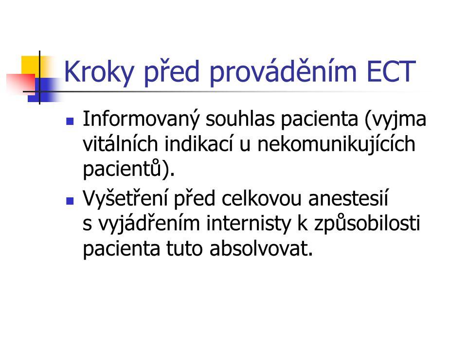 Kroky před prováděním ECT