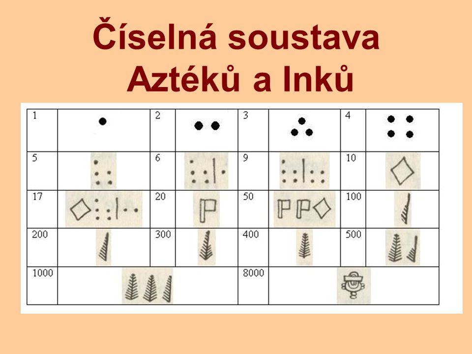 Číselná soustava Aztéků a Inků