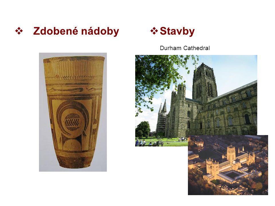 Zdobené nádoby Stavby Durham Cathedral