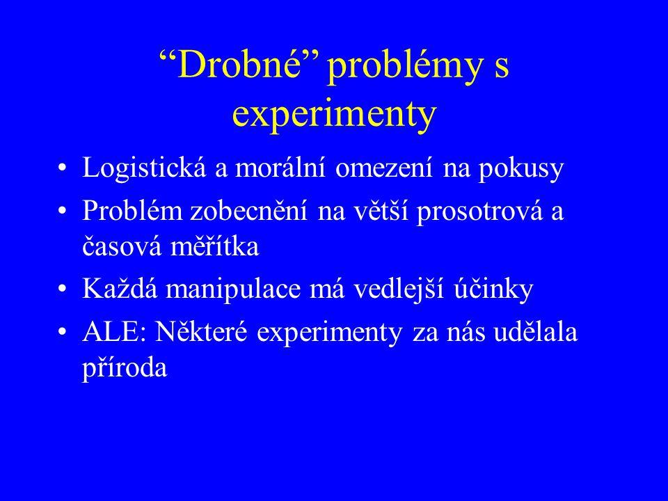 Drobné problémy s experimenty
