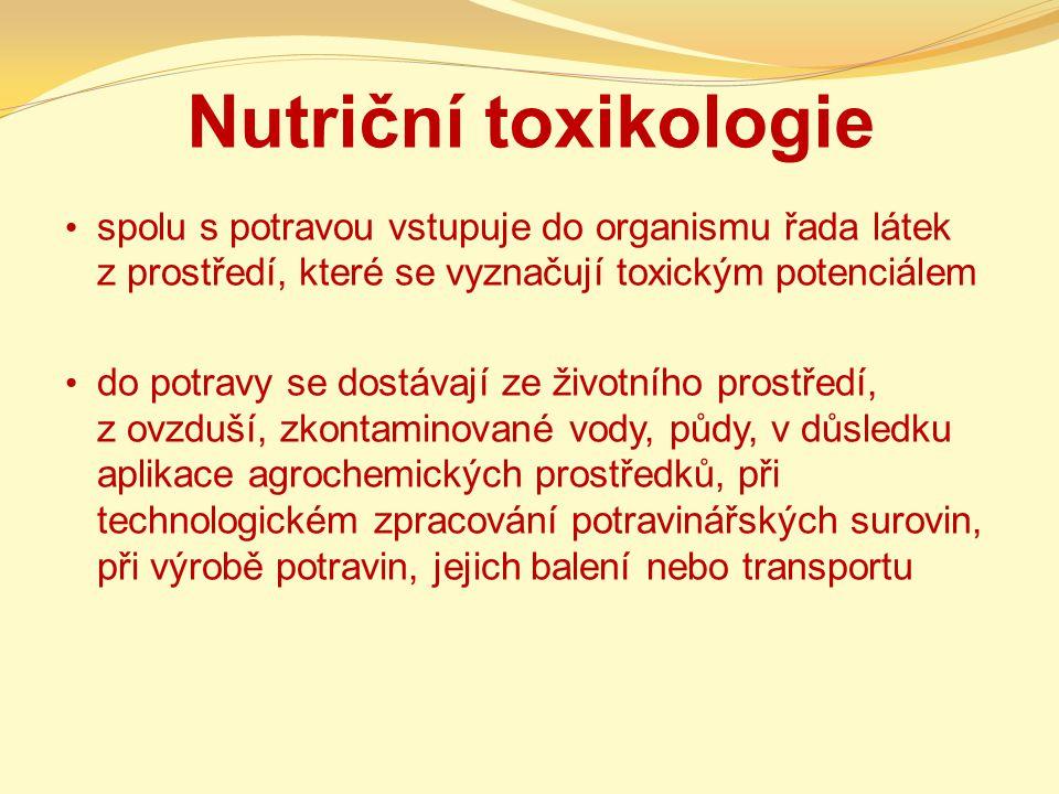 Nutriční toxikologie spolu s potravou vstupuje do organismu řada látek z prostředí, které se vyznačují toxickým potenciálem.