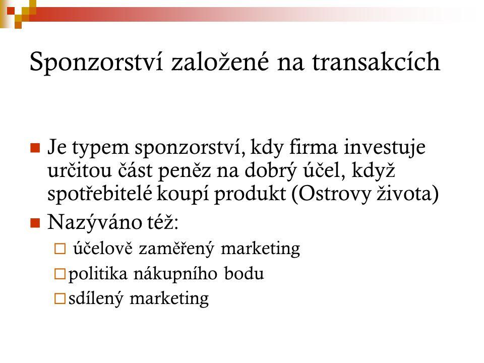 Sponzorství založené na transakcích