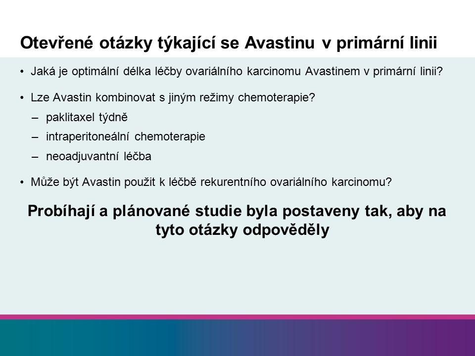 Otevřené otázky týkající se Avastinu v primární linii