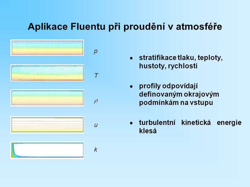 Aplikace Fluentu při proudění v atmosféře