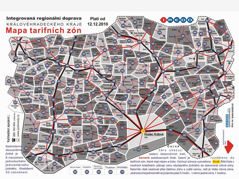 Tarifní mapa IREDO