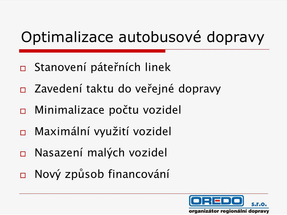 Optimalizace autobusové dopravy