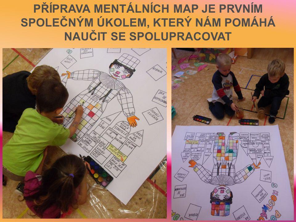 PŘÍPRAVA MENTÁLNÍCH MAP JE PRVNÍM SPOLEČNÝM ÚKOLEM, KTERÝ NÁM POMÁHÁ NAUČIT SE SPOLUPRACOVAT