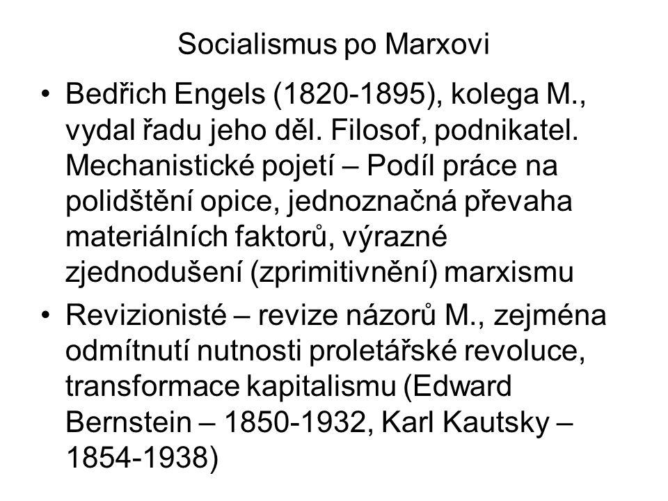 Socialismus po Marxovi