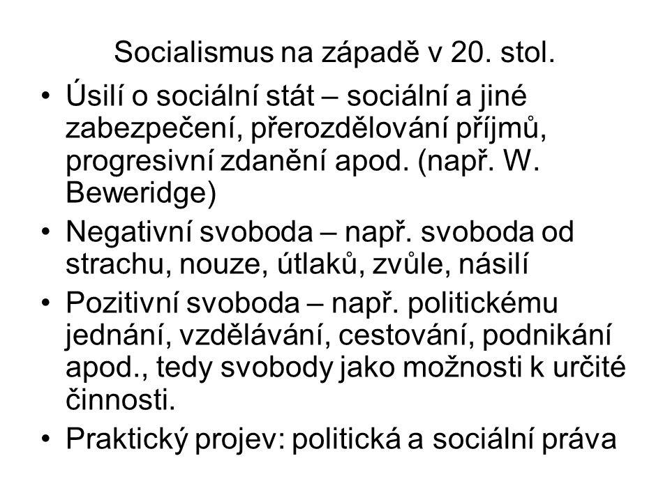 Socialismus na západě v 20. stol.