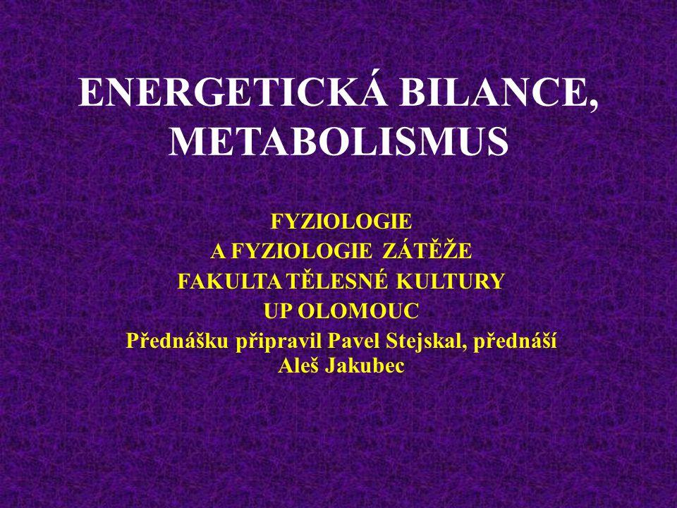ENERGETICKÁ BILANCE, METABOLISMUS