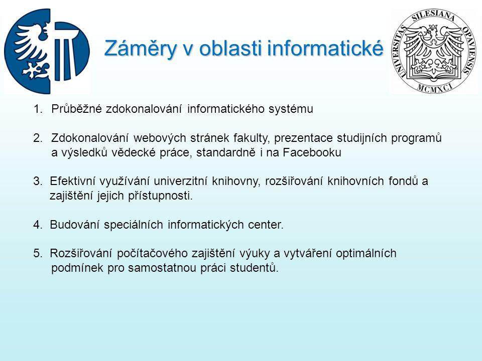 Záměry v oblasti informatické