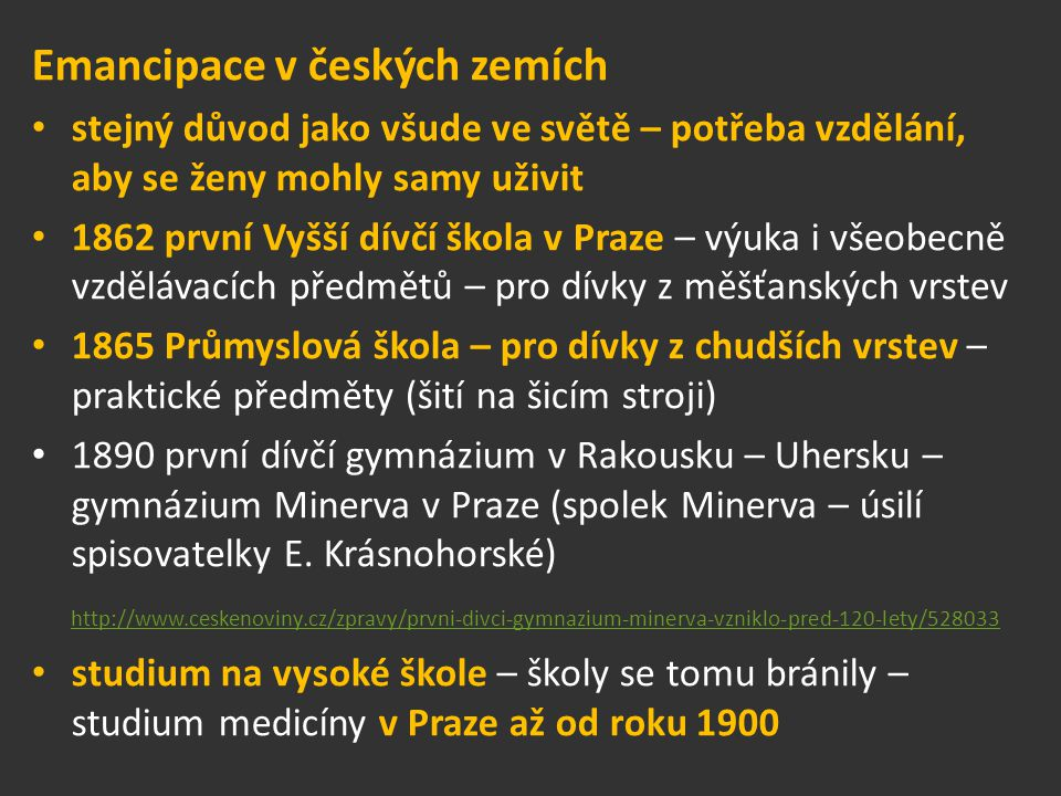 Emancipace v českých zemích