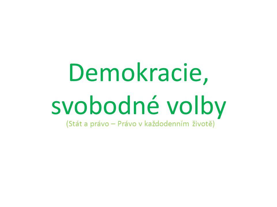 Demokracie, svobodné volby