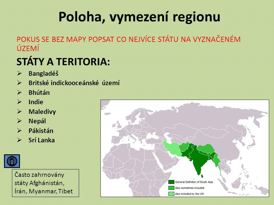 Poloha, vymezení regionu