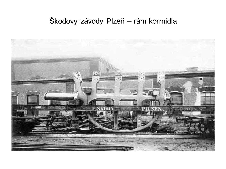 Škodovy závody Plzeň – rám kormidla