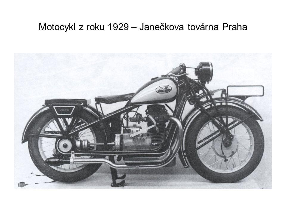 Motocykl z roku 1929 – Janečkova továrna Praha