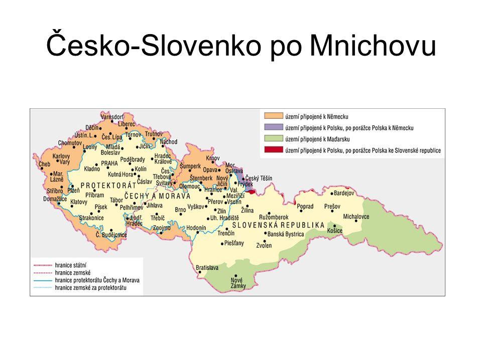 Česko-Slovenko po Mnichovu