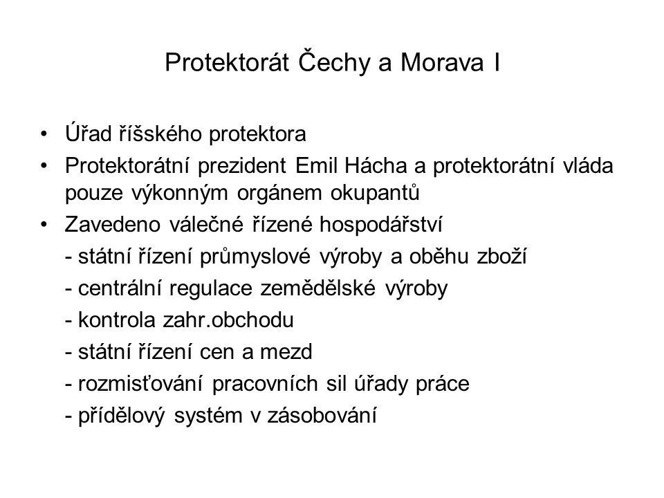 Protektorát Čechy a Morava I