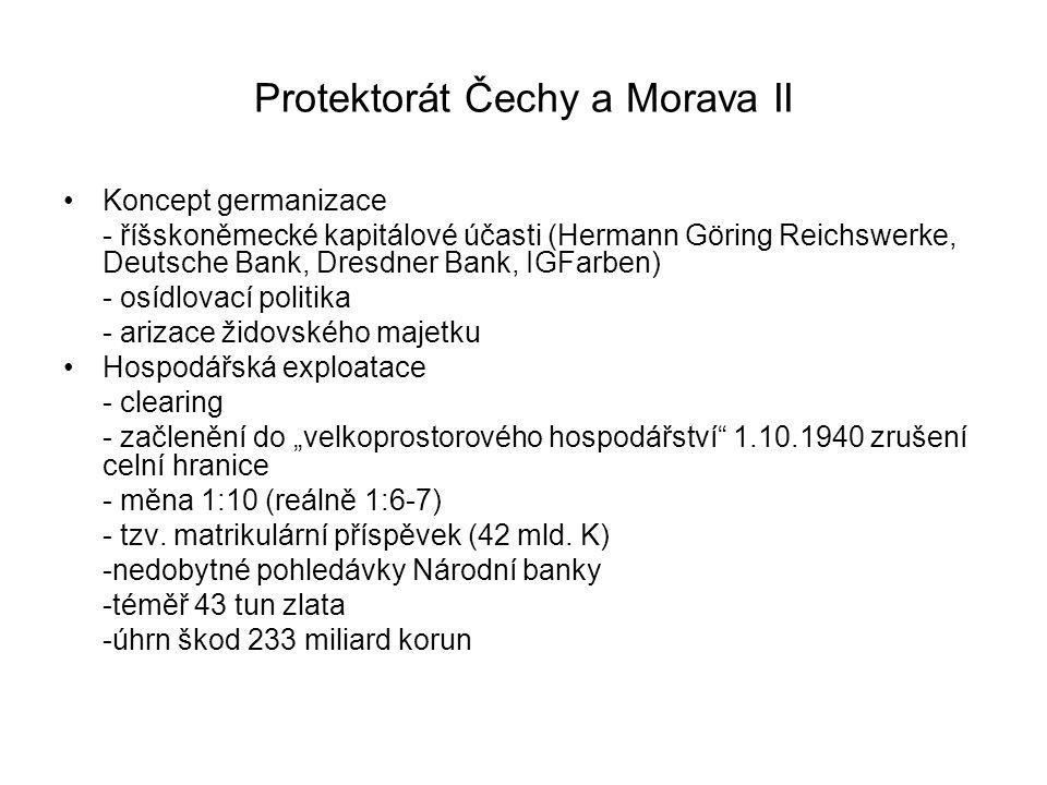 Protektorát Čechy a Morava II