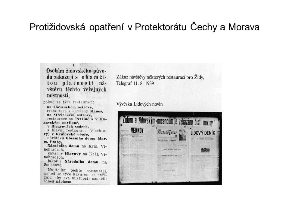 Protižidovská opatření v Protektorátu Čechy a Morava
