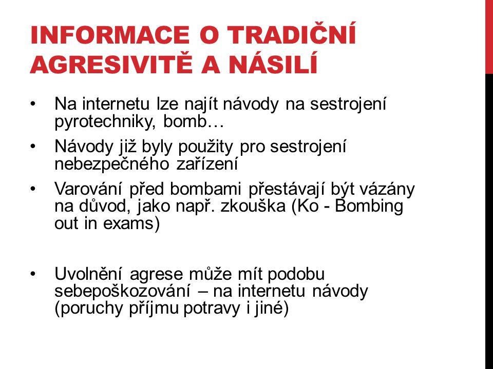 Informace o tradiční agresivitě a násilí