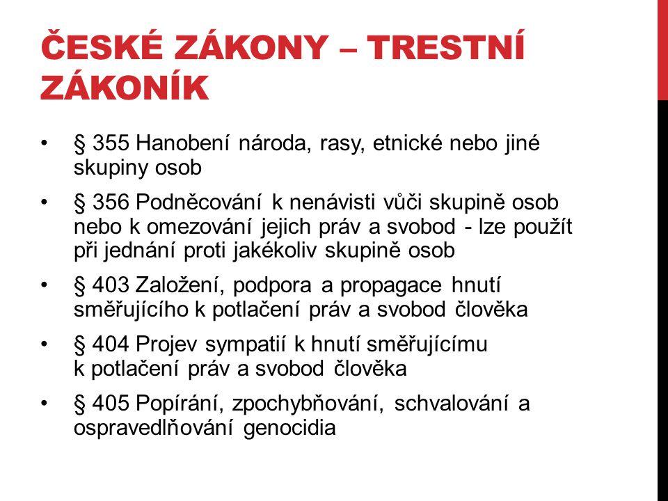 České zákony – Trestní zákoník