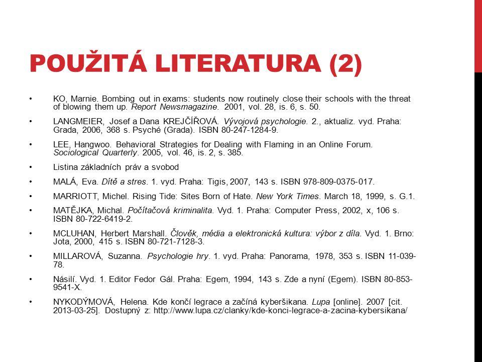 Použitá literatura (2)
