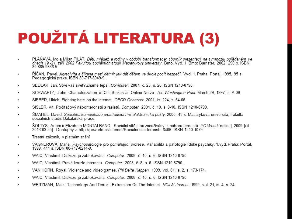 Použitá literatura (3)