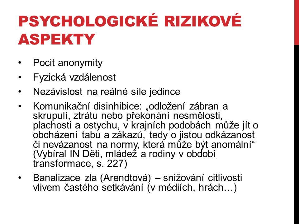Psychologické rizikové aspekty