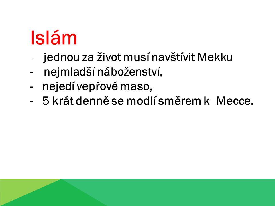 Islám jednou za život musí navštívit Mekku nejmladší náboženství,