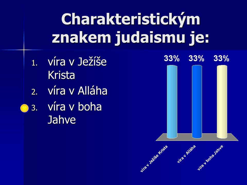 Charakteristickým znakem judaismu je: